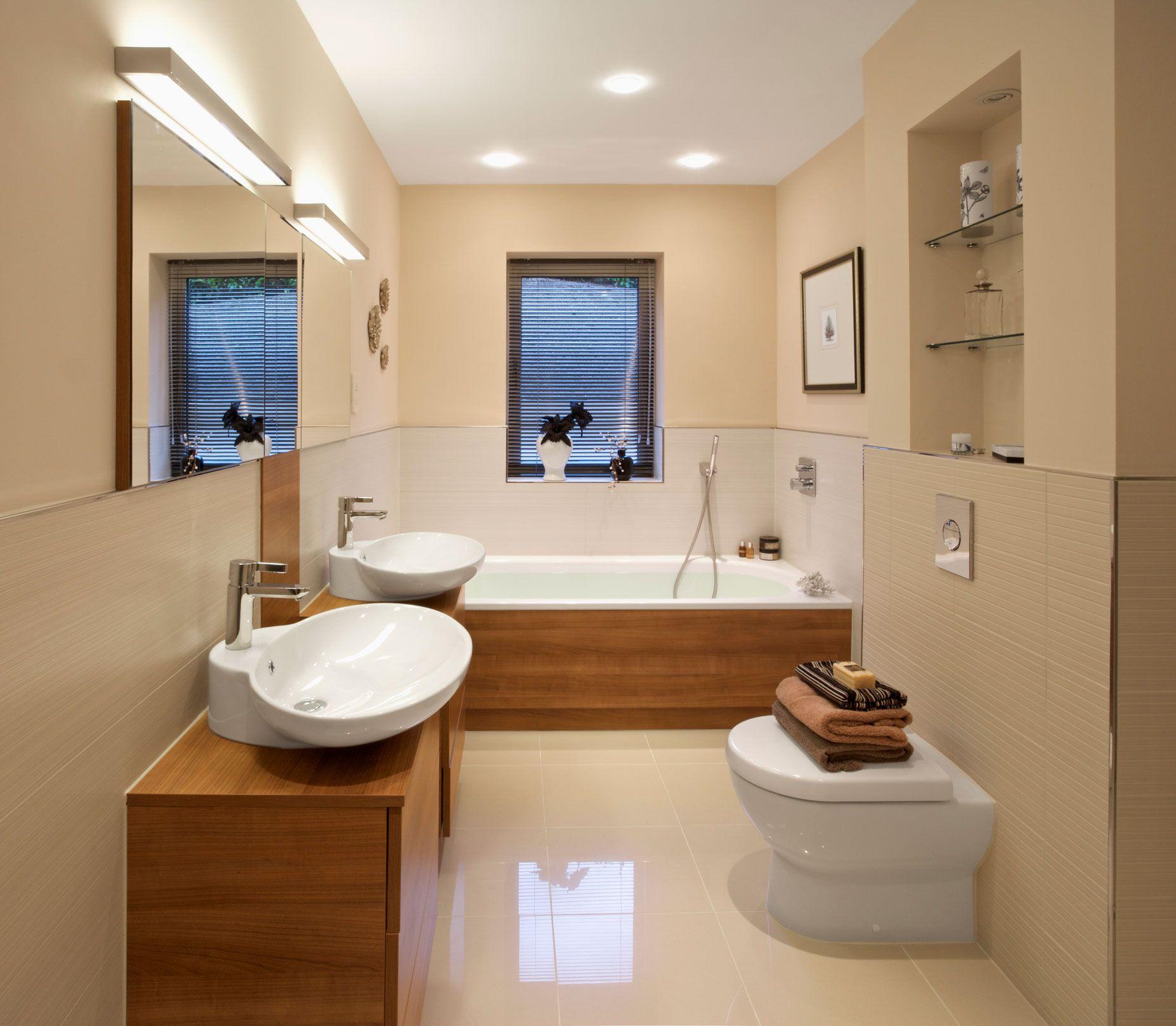 Ba eras modernas hogarmania for Baneras exentas pequenas