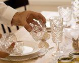 Decoración romántica para mesa de Navidad