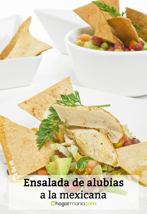 Elaboración de la ensalada de alubias a la mexicana