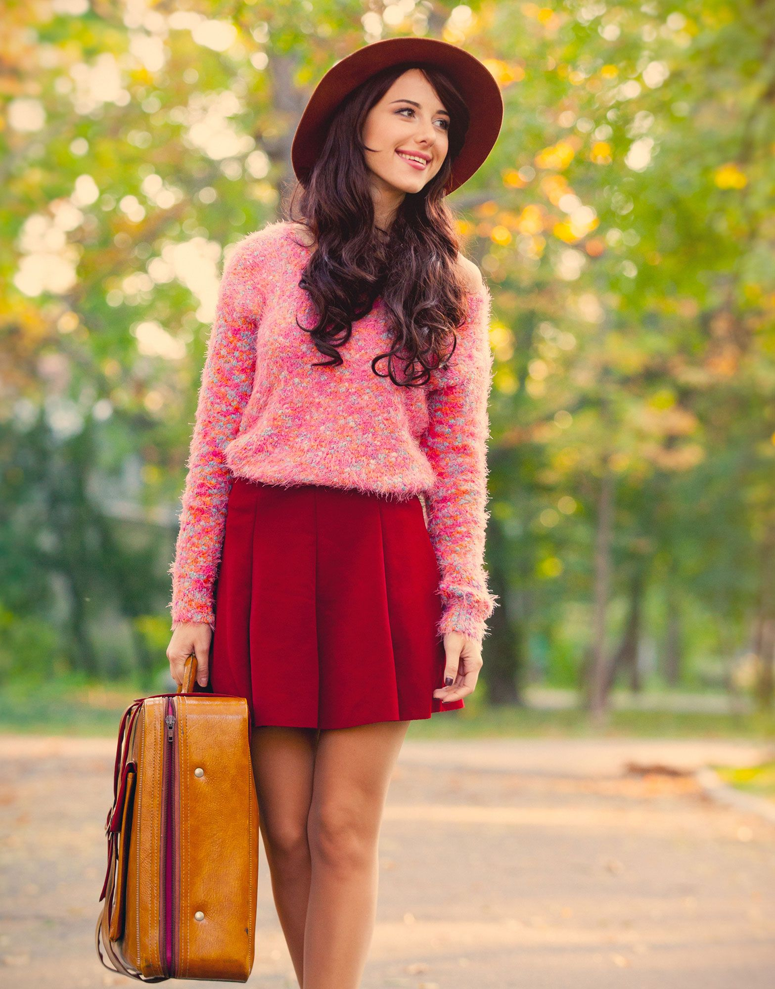 fashion red autumn colors
