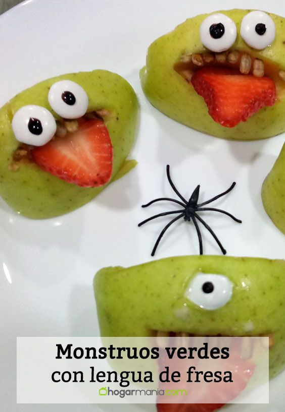Receta de monstruos verdes con lengua de fresa