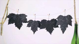 Pintar y decorar hojas secas - Paso 3