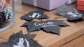 Pintar y decorar hojas secas - Paso 4