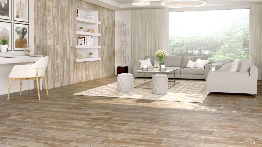 suelos de gres porcelnicos con acabado desgastado - Suelos Porcelanicos