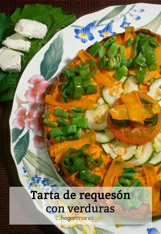 Tarta de requesón con verduras
