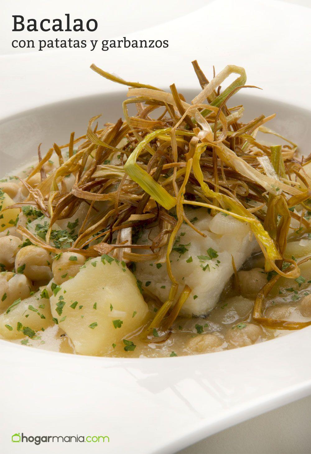 Receta de bacalao con patatas y garbanzos karlos argui ano - Bacalao con garbanzos y patatas ...