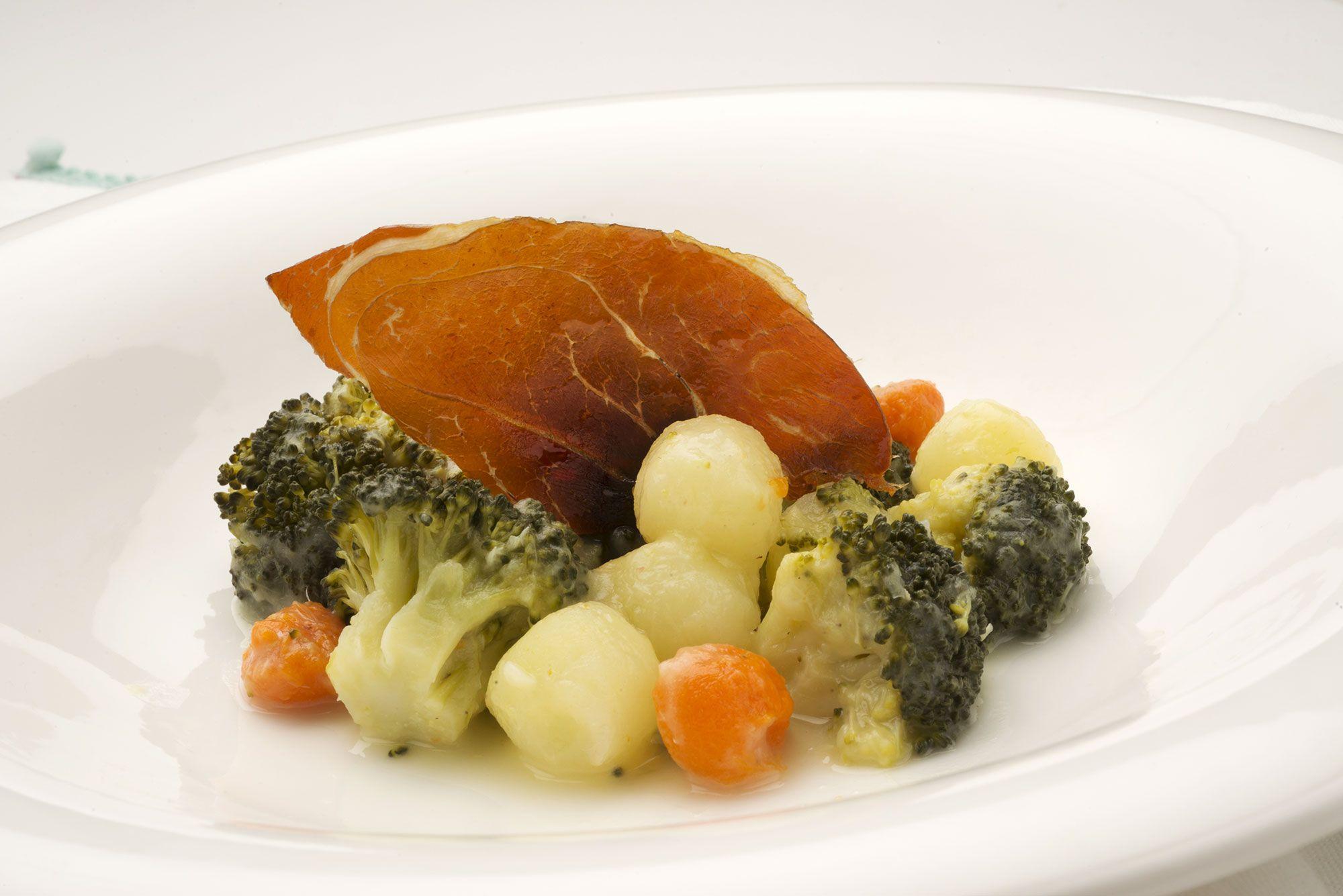 Brócoli con calabaza y patata