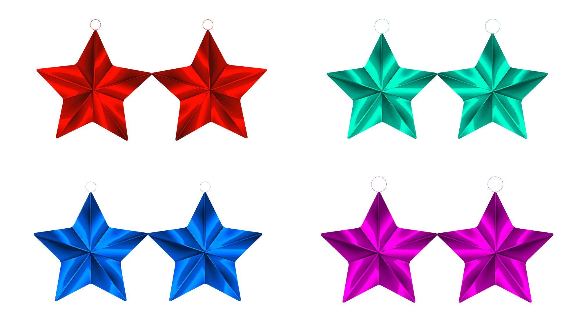 Adornos de papel o cartulina para el rbol de navidad - Ideas para decorar estrellas de navidad ...