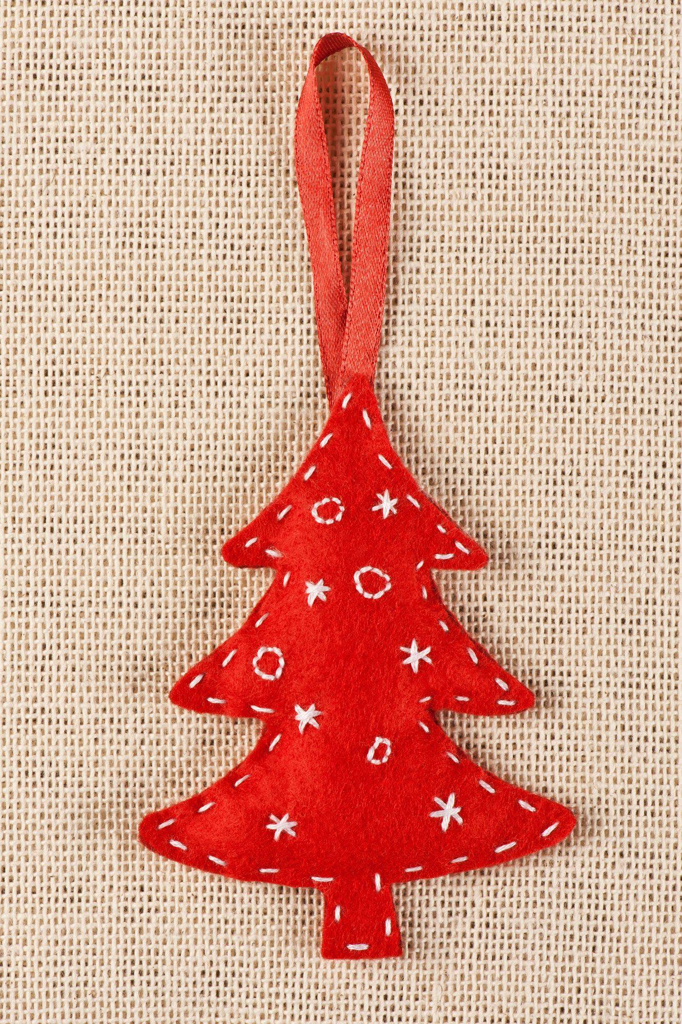 Hacer un árbol de Navidad de fieltro