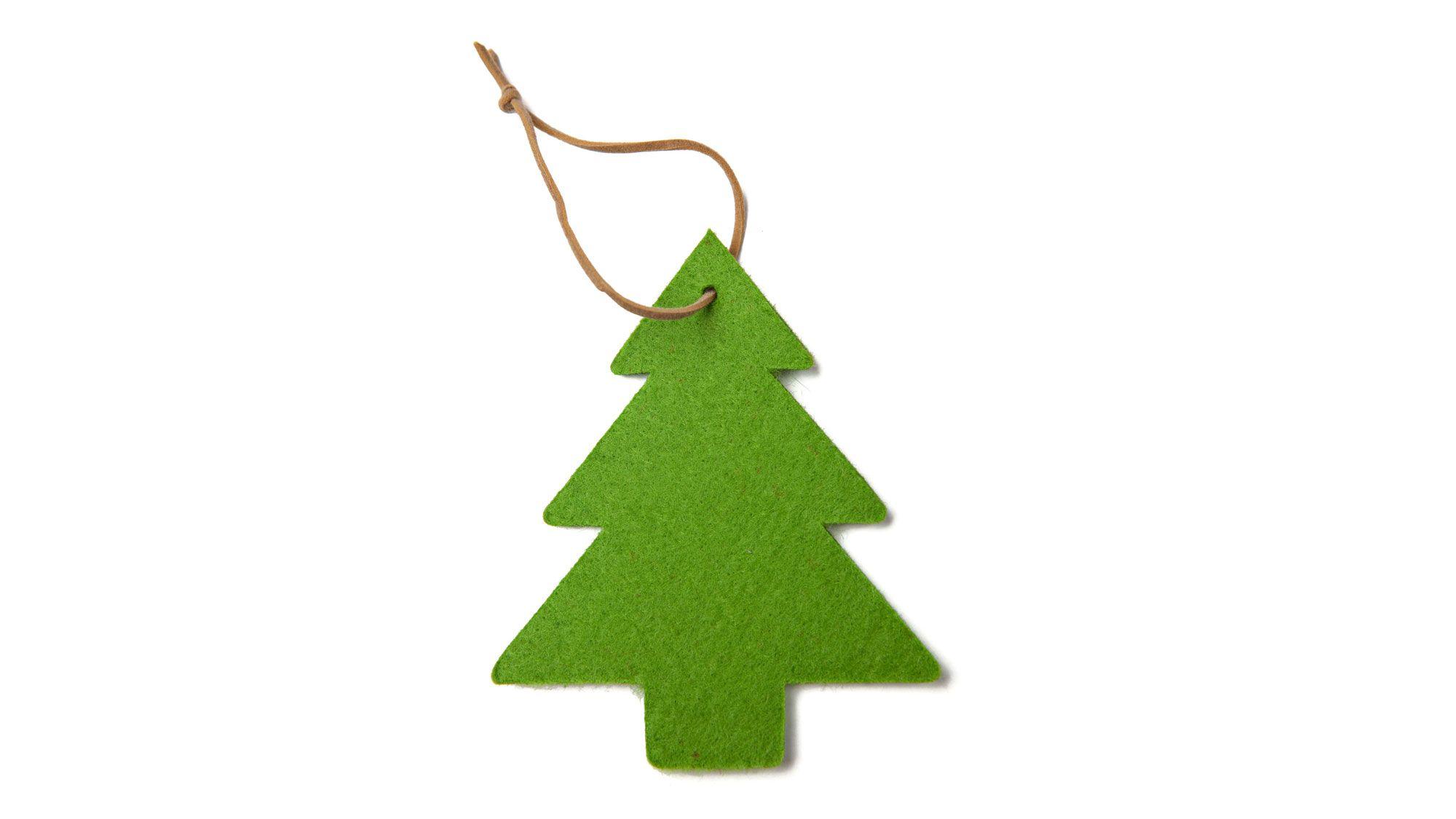 Hacer un rbol de navidad de fieltro hogarmania - Arbol de navidad de fieltro ...