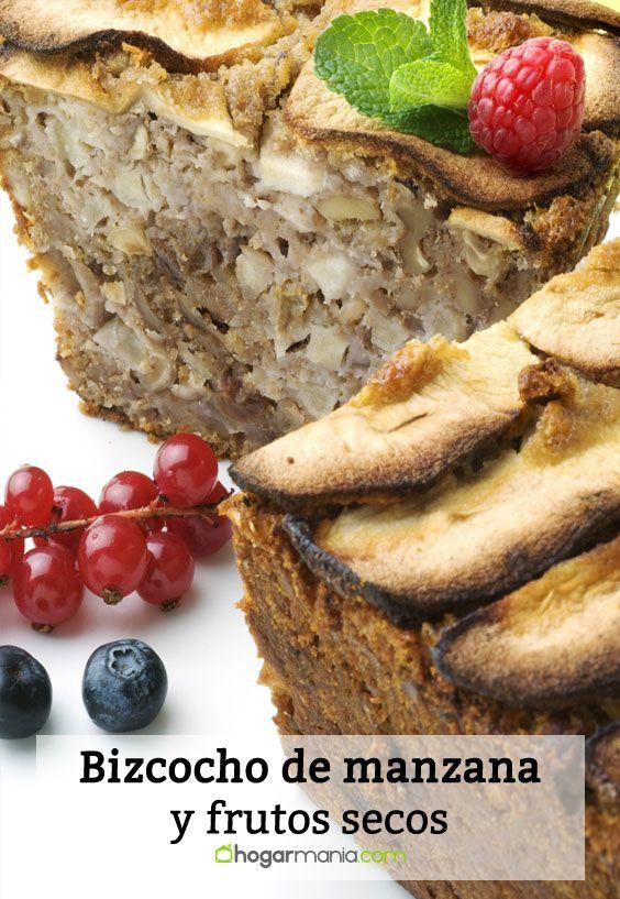 Receta de Bizcocho de manzana y frutos secos