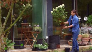 Jardineras de tela - Paso 2