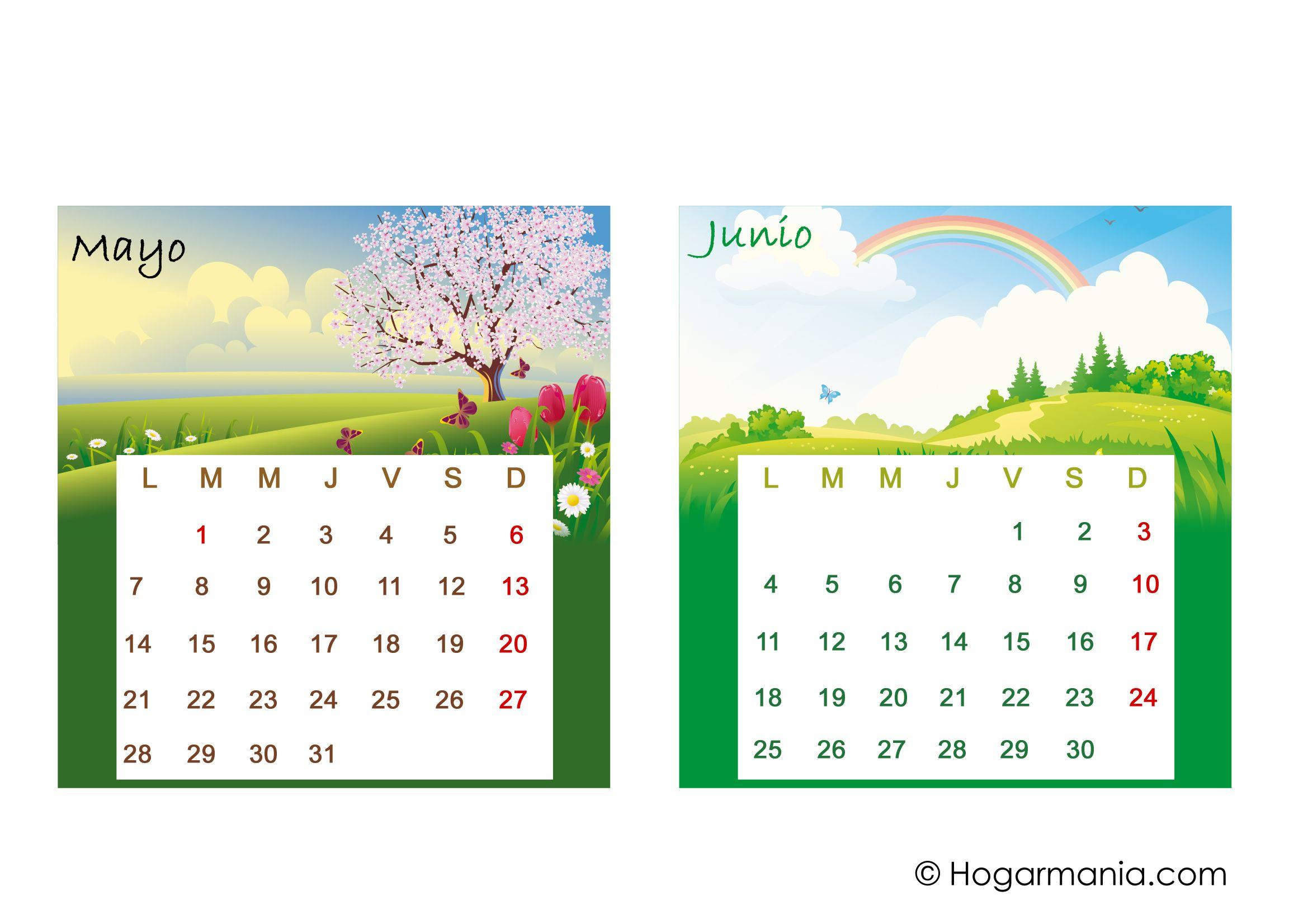 Calendario de mesa del 2018 para descargar