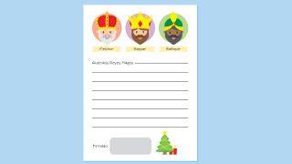 Cartas a los Reyes Magos para descargar - Modelo 1