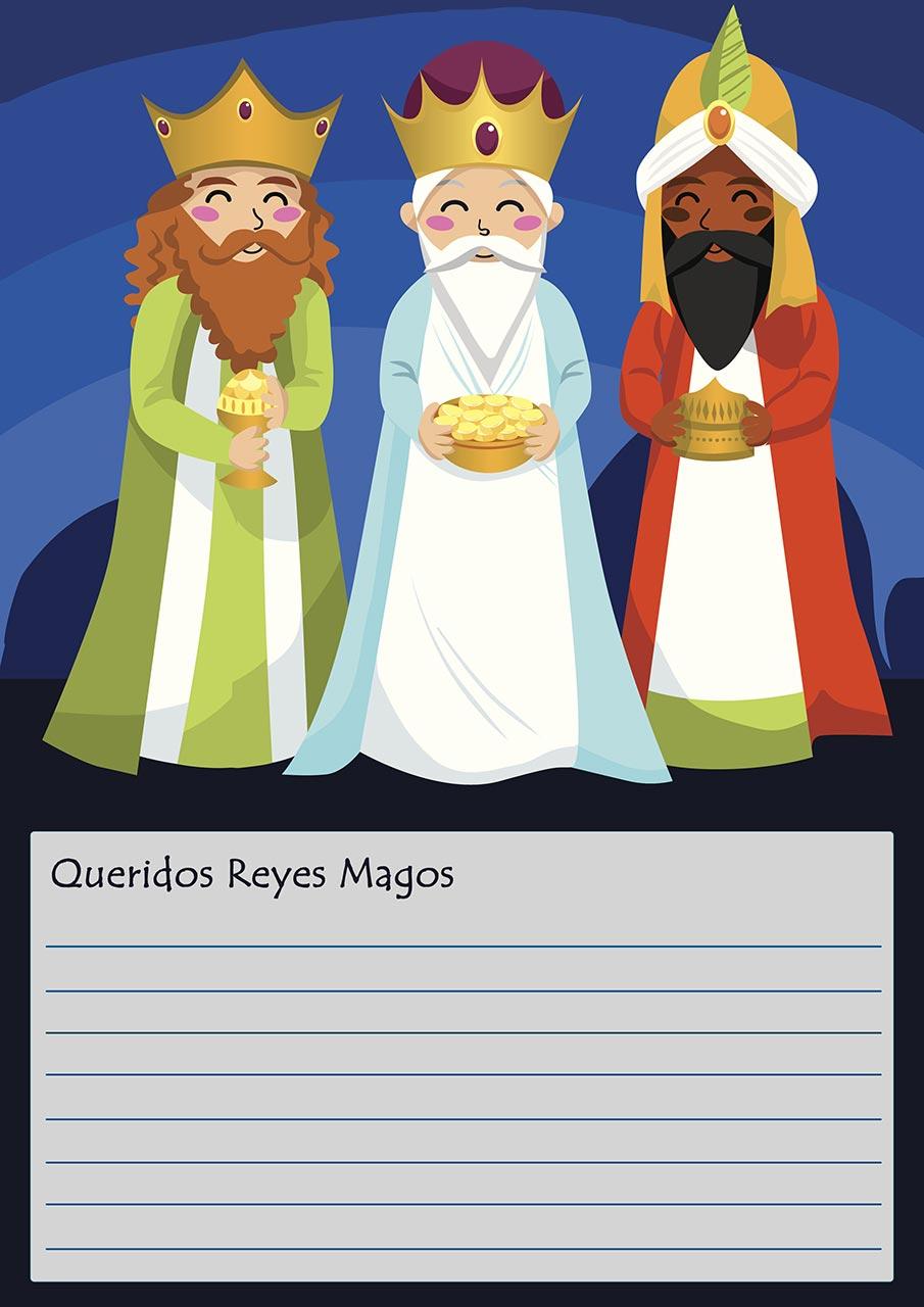 Imagenes Sobre Reyes Magos.Cartas A Los Reyes Magos Para Descargar Hogarmania