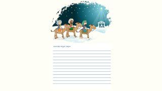 Cartas a los Reyes Magos para descargar - Modelo 2