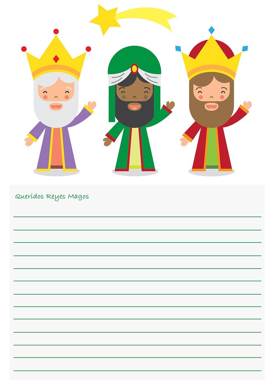 Dias De Reyes Magos Descargar imagenes de cartas para los reyes magos para colorear