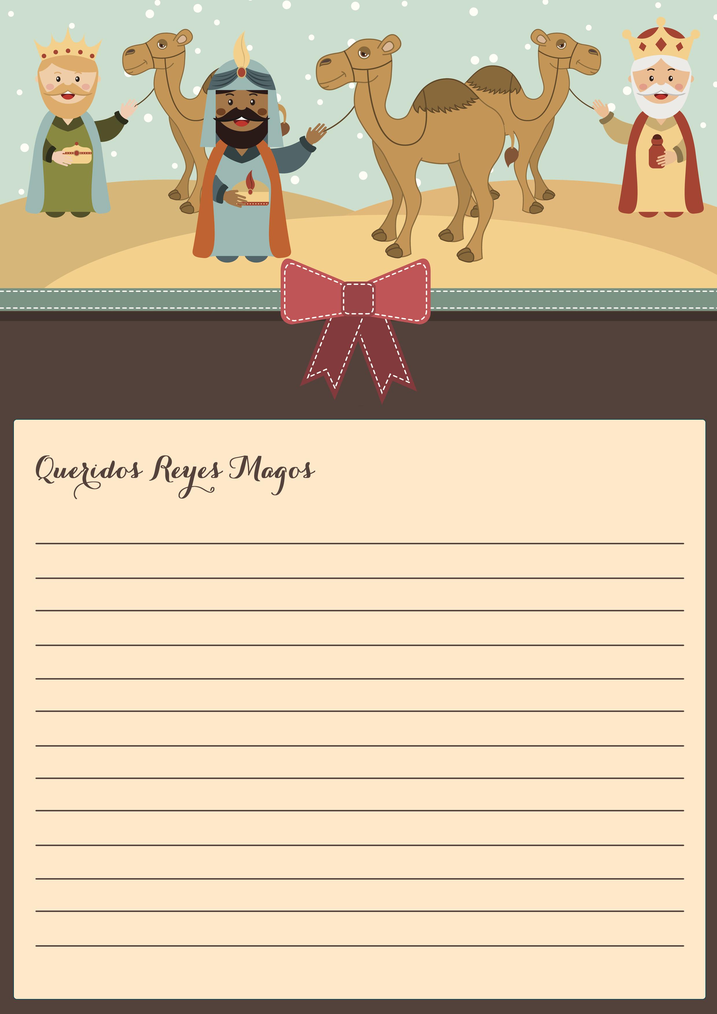 Dias De Reyes Magos Descargar plantilla carta reyes magos para imprimir y colorear