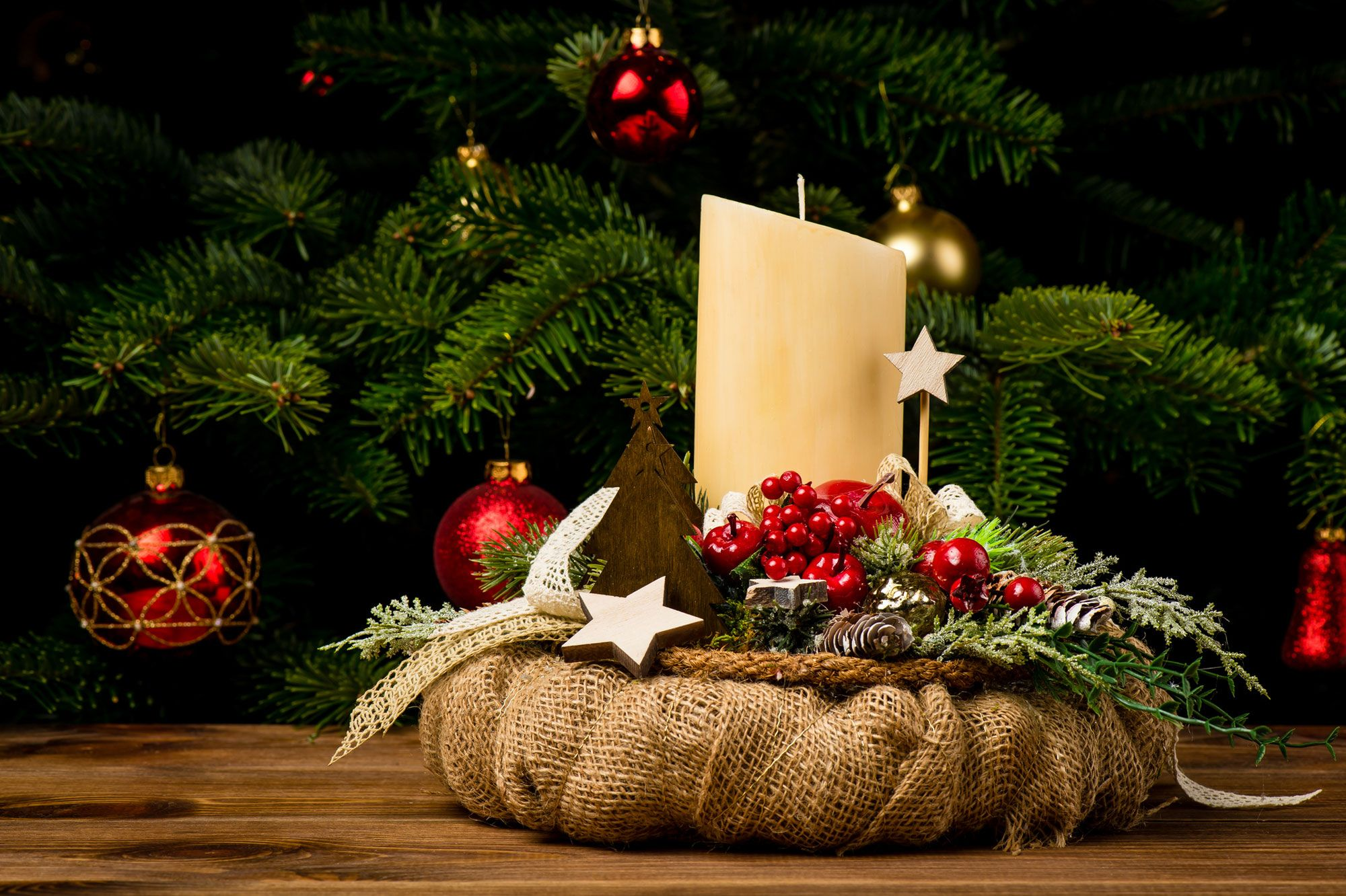Centros con velas para Navidad