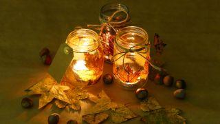 Cómo decorar tarros de cristal con hojas secas - Paso 5