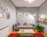 Decorar sala cálida y acogedora en gris