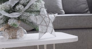 Decoraci�n navide�a blanca