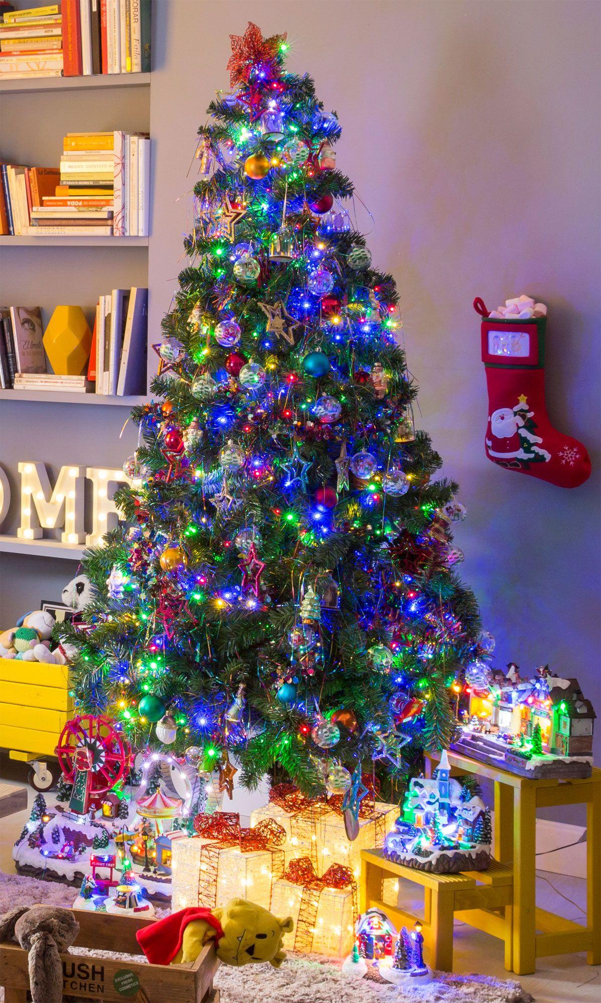 Decoraci n navide a divertida y llena de color hogarmania - Decoracion navidena natural ...