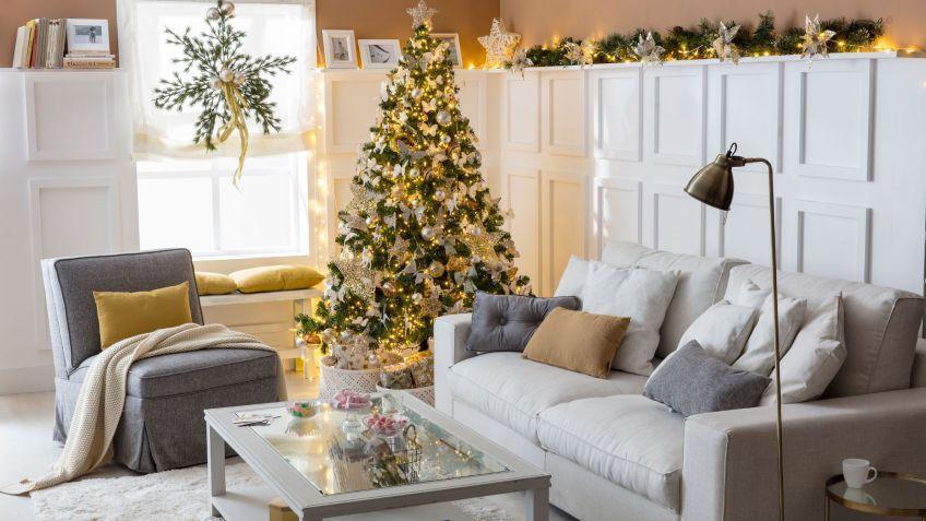 Decoraci n navide a plateada y dorada hogarmania for Decoracion rustica moderna
