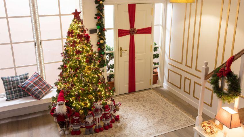 decoraci n navide a tradicional en rojo blanco y verde