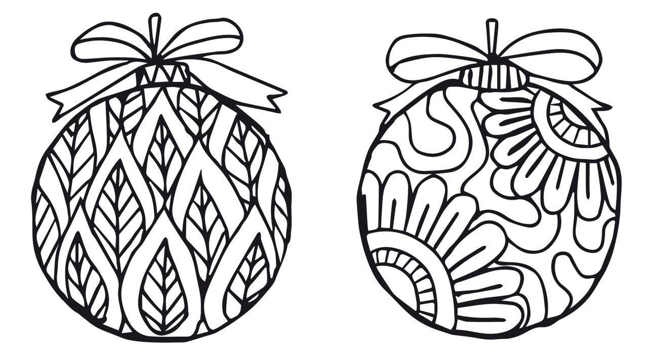Dibujos de bolas de navidad para imprimir y colorear 1 - Dibujos para imprimir y colorear de navidad ...