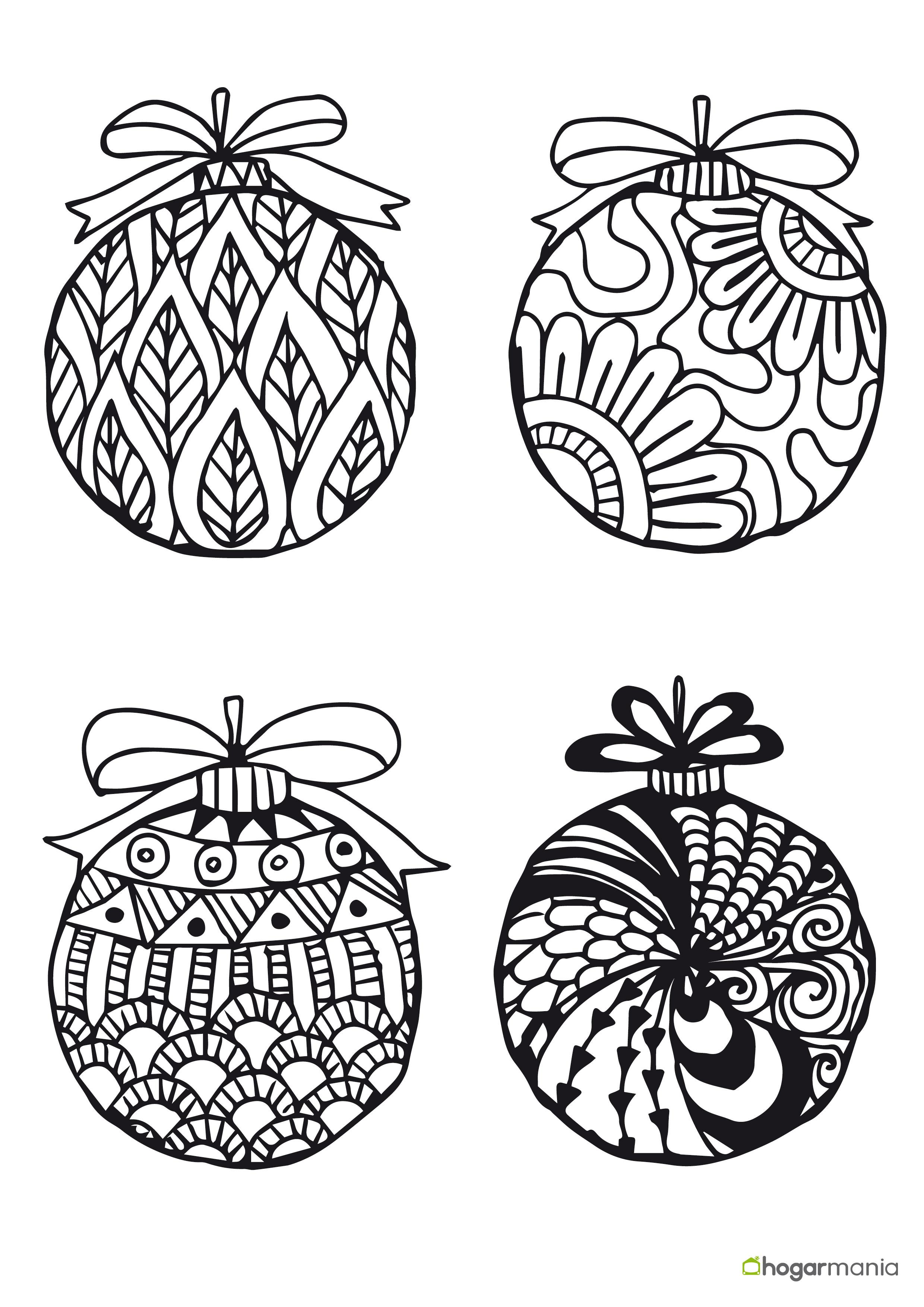 Inspirador dibujos de bolas de navidad para colorear e - Dibujos en color de navidad ...