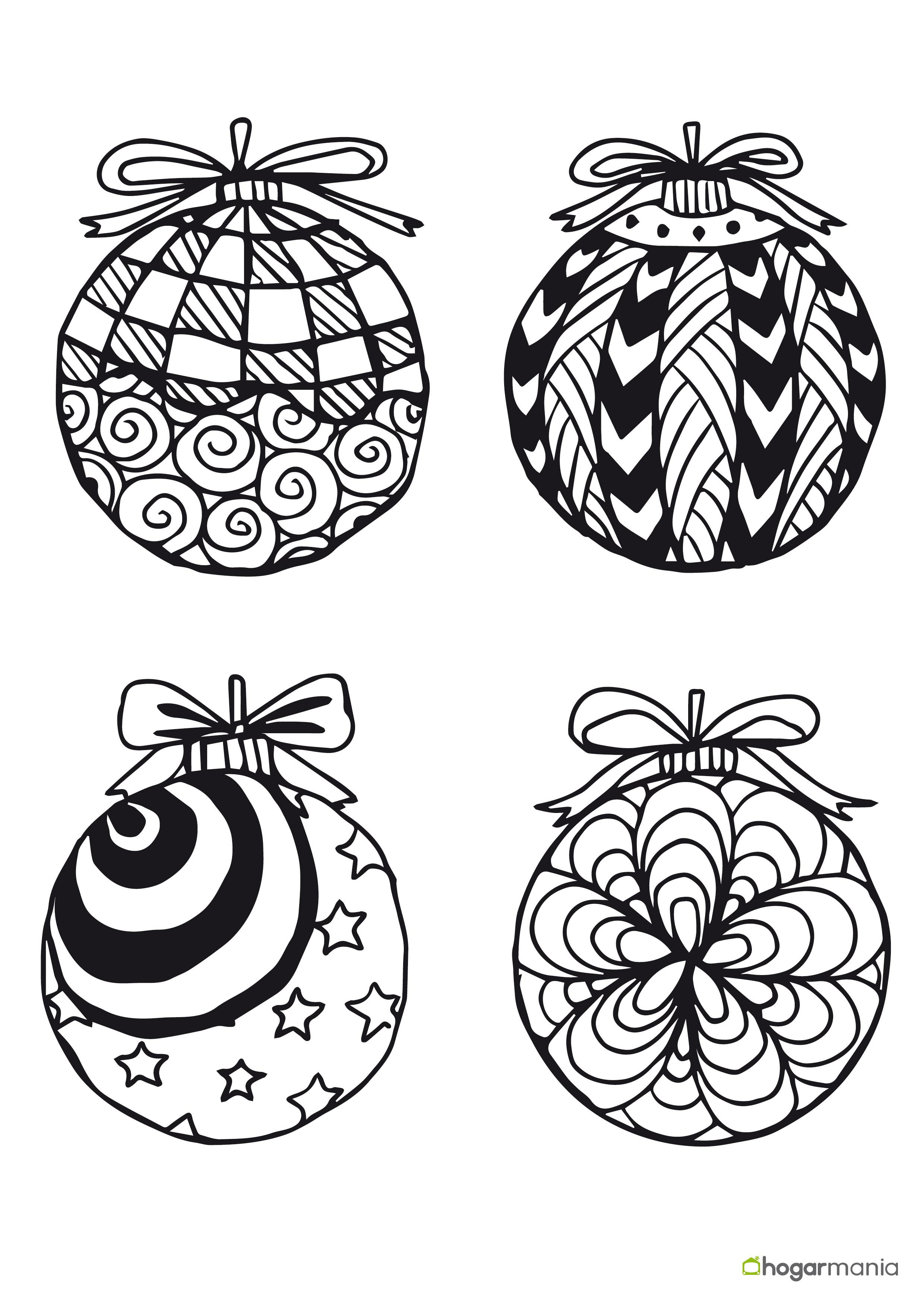 Bola Navidad Para Colorear. Dibujos Para Colorear De Navidad Bolas ...