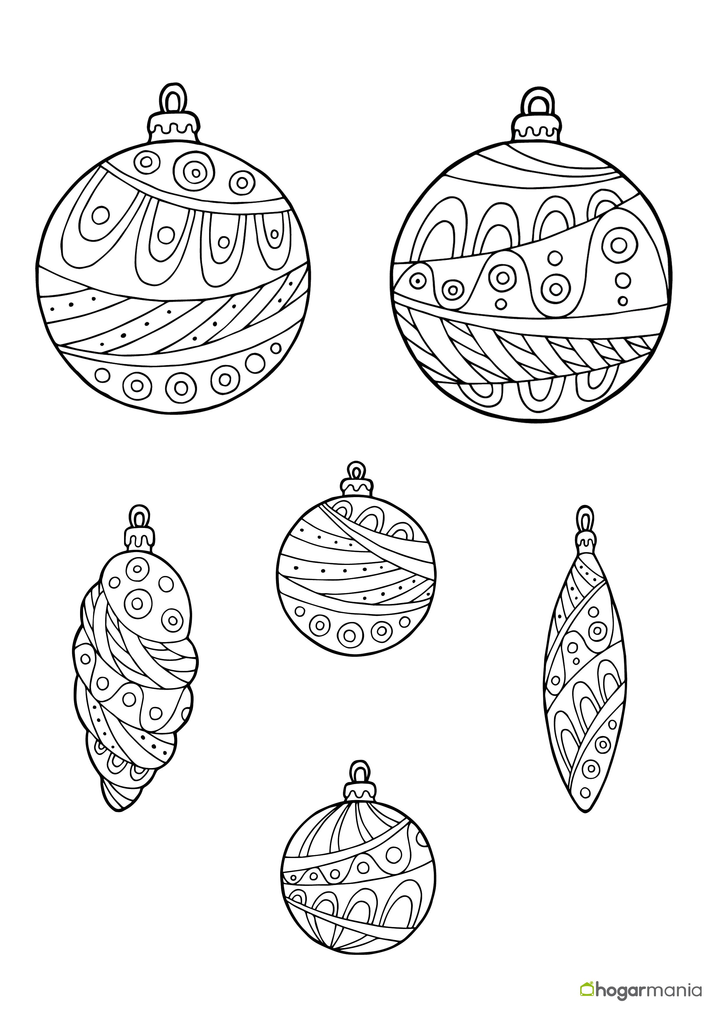 Inspirador Dibujos De Bolas De Navidad Para Colorear E Imprimir