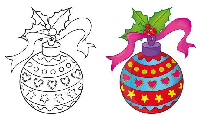 Dibujos de bolas de navidad para imprimir y colorear for Adornos navidenos para colorear y recortar