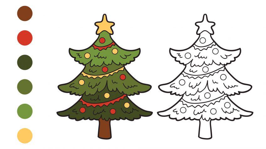 Dibujos navideños para pintar o colorear - Hogarmania