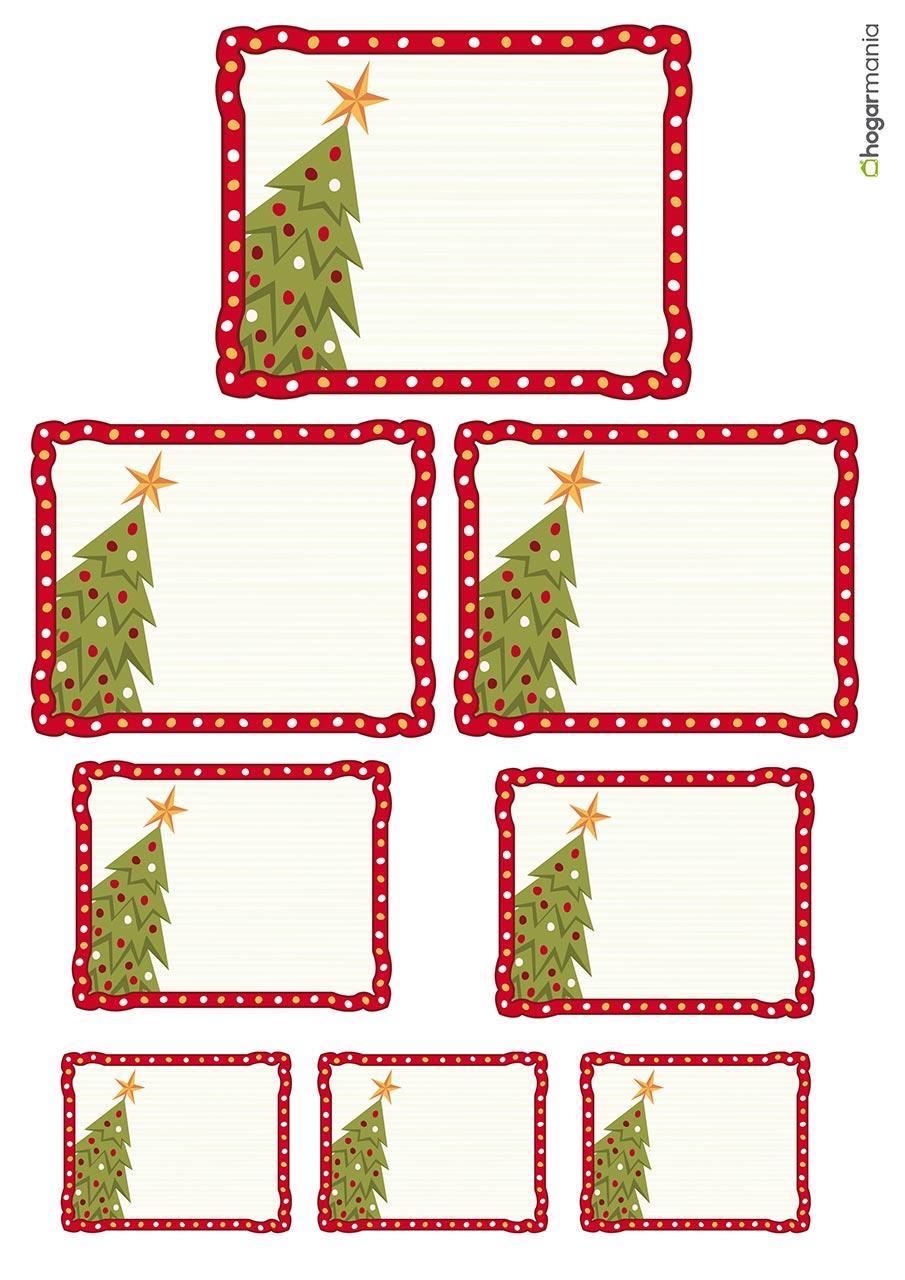 Marcos Para Fotos De Arbol De Navidad.Etiquetas Navidenas Para Personalizar Tus Regalos Hogarmania