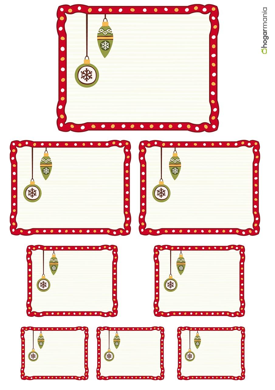 etiquetas navideñas para personalizar tus regalos hogarmania