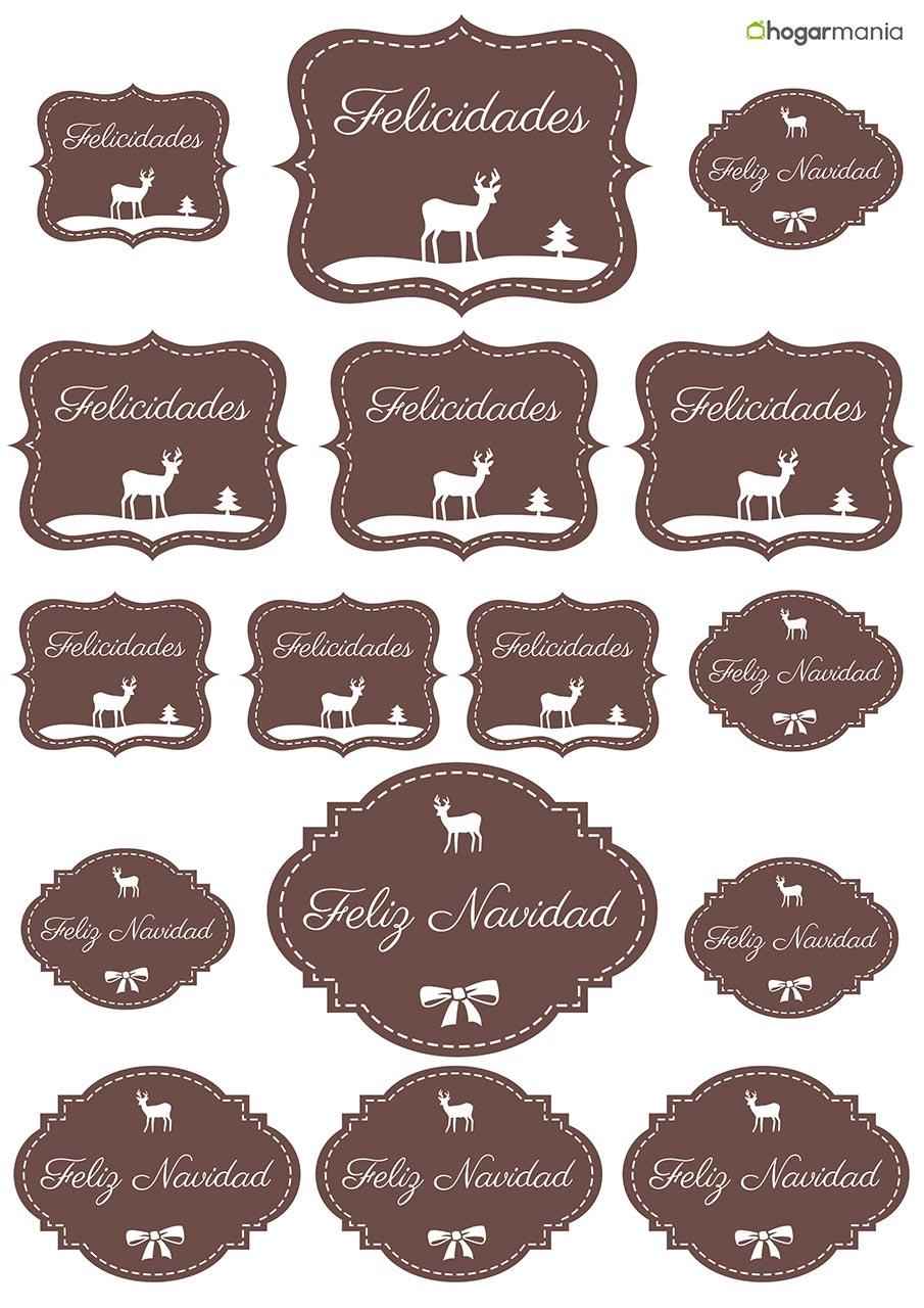 Etiquetas navideñas para personalizar tus regalos - Hogarmania