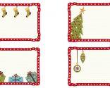 Etiquetas navideñas para personalizar tus regalos con marco galeria