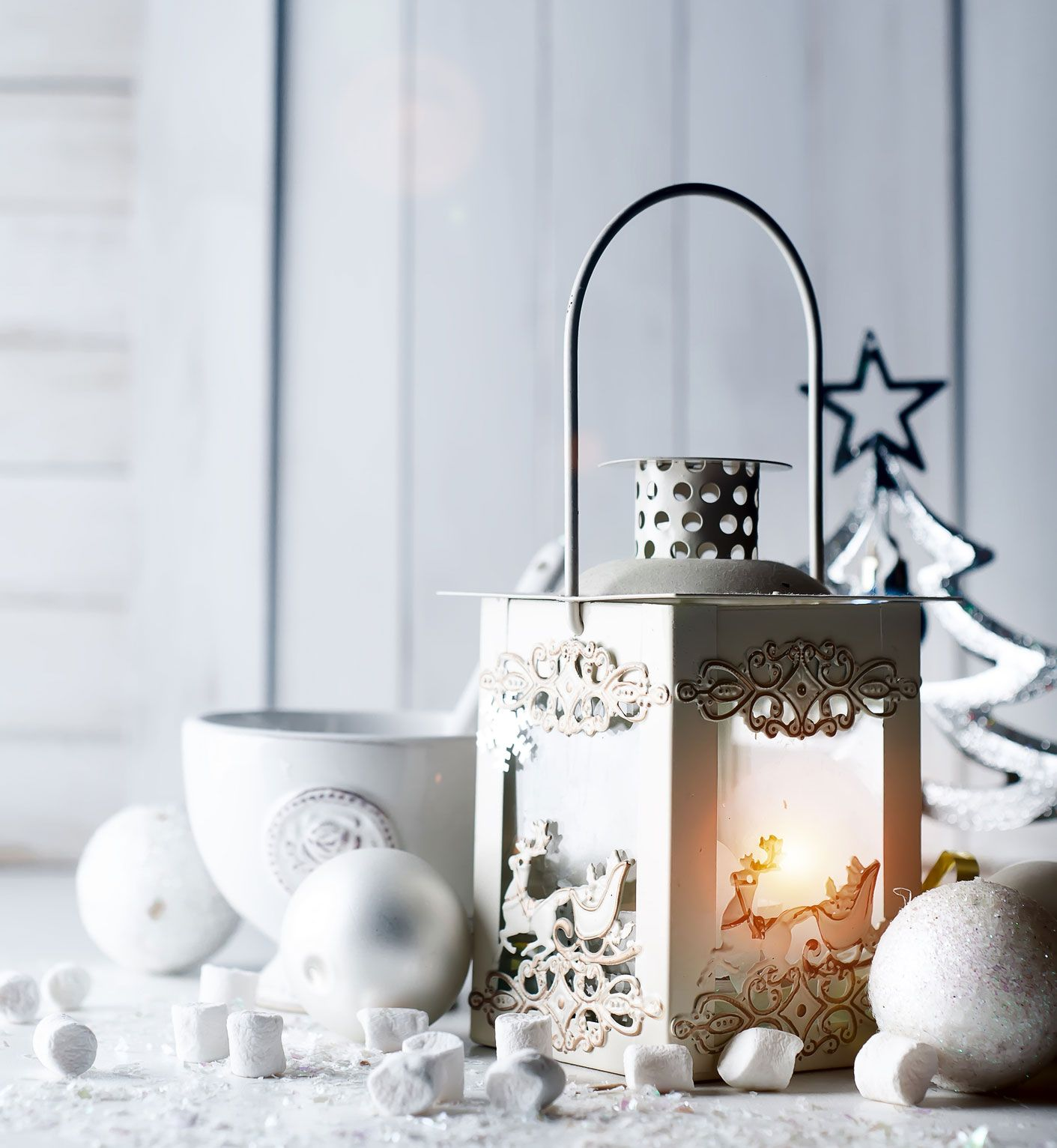 Iluminaci n navide a con farolillos de velas hogarmania - Farolillos para velas ...