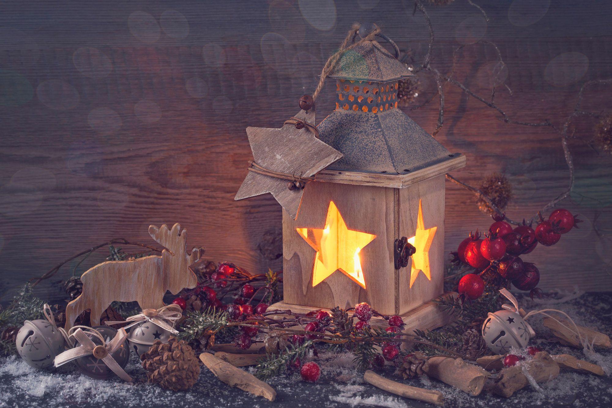 Farolillos para la decoración navideña