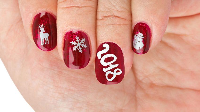 10 manicuras de uas para Navidad Hogarmania