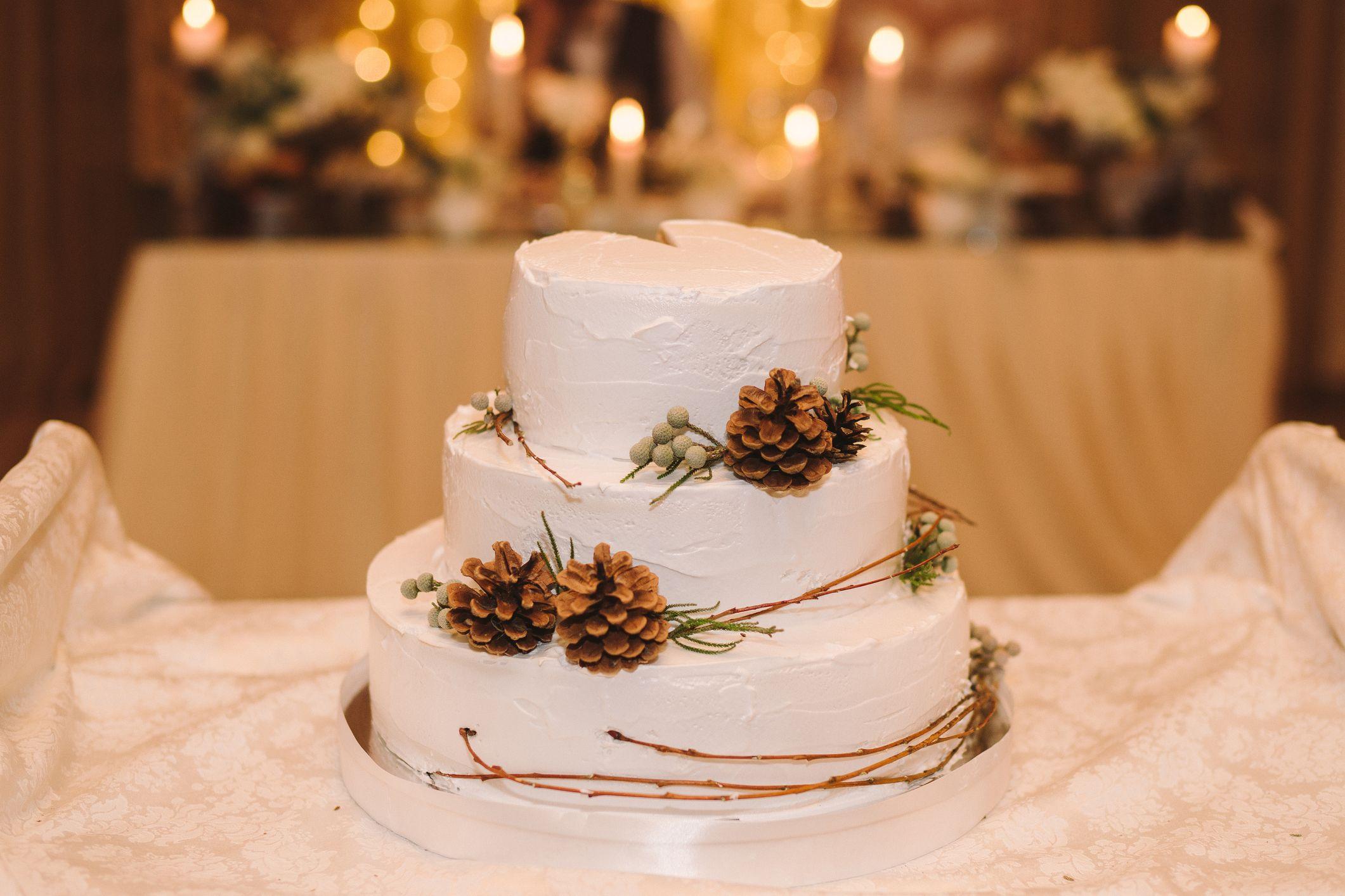 Tarta de boda navidena