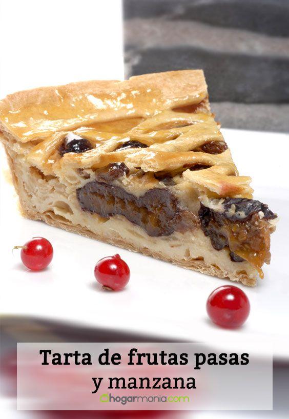 Receta de Tarta de frutas pasas y manzana