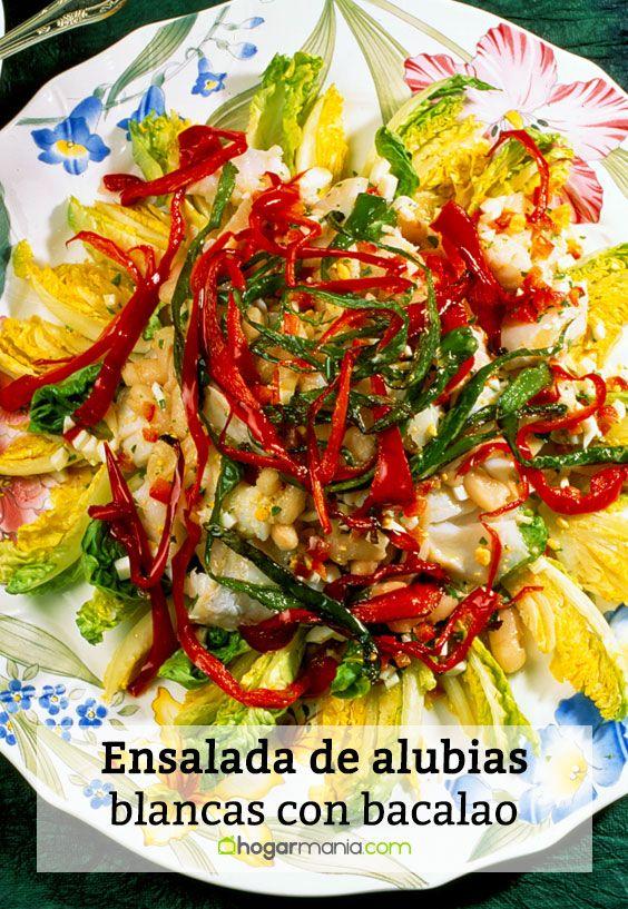 Receta de ensalada de alubias blancas con bacalao karlos - Ensalada de alubias ...