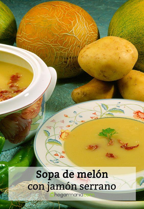 Sopa de melón con jamón serrano
