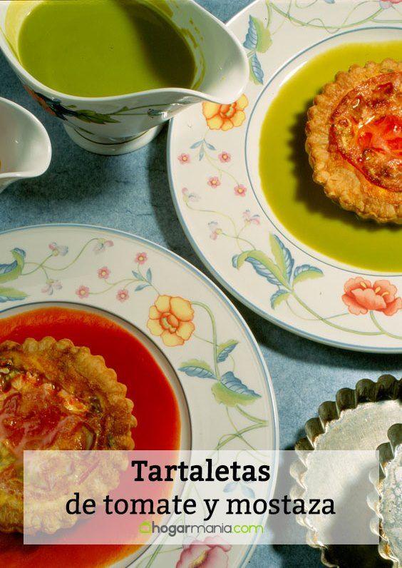 Tartaletas de tomate y mostaza