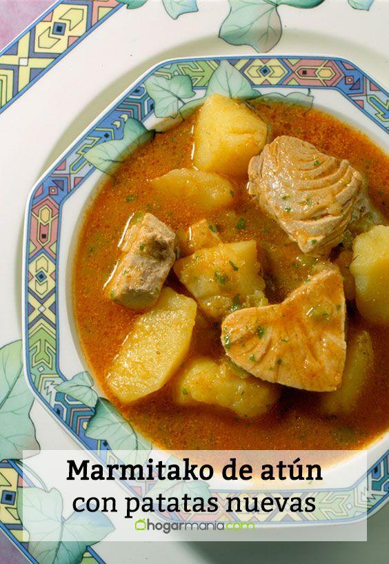 Marmitako de atún con patatas nuevas