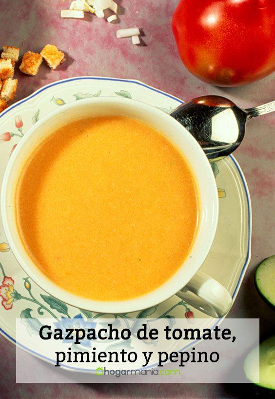 Gazpacho de tomate, pimiento y pepino