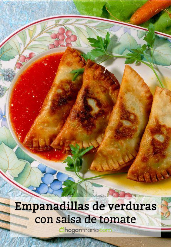 empanadillas de verduras con salsa de tomate